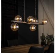 Industriële hanglamp Carter 6-lichts oud zilver