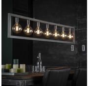 Industriële hanglamp Jordan 7-lichts oud zilver