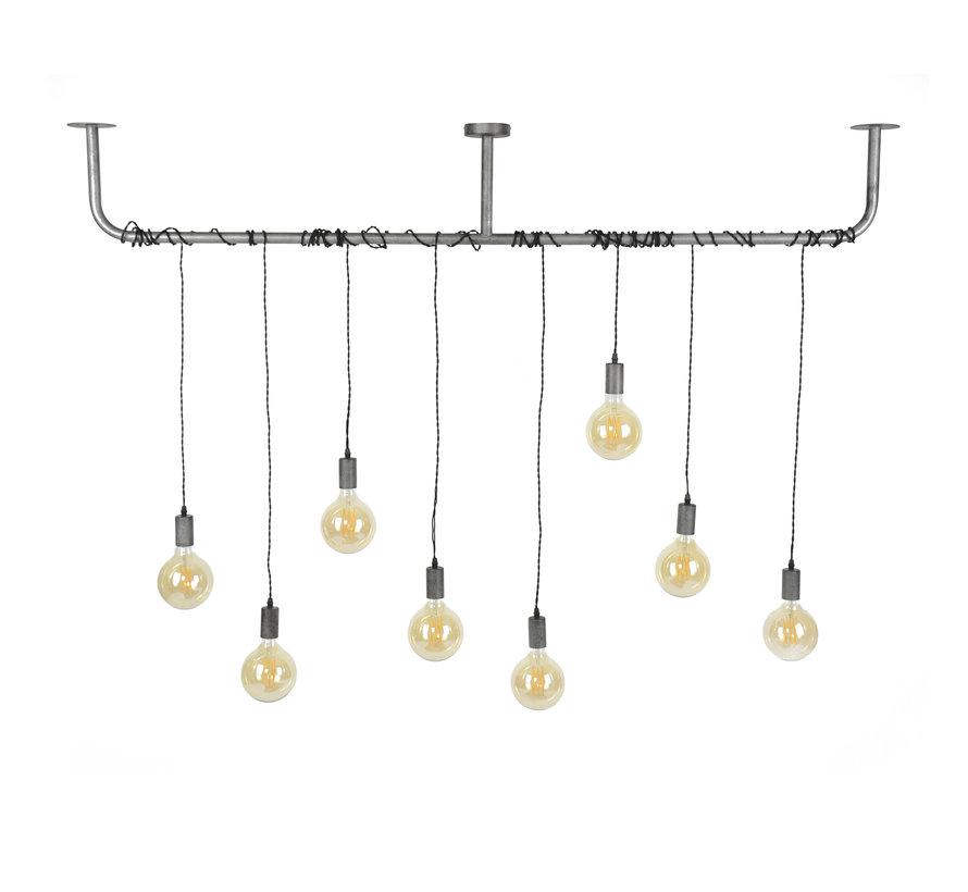 Industriële hanglamp Glenn 8-lichts