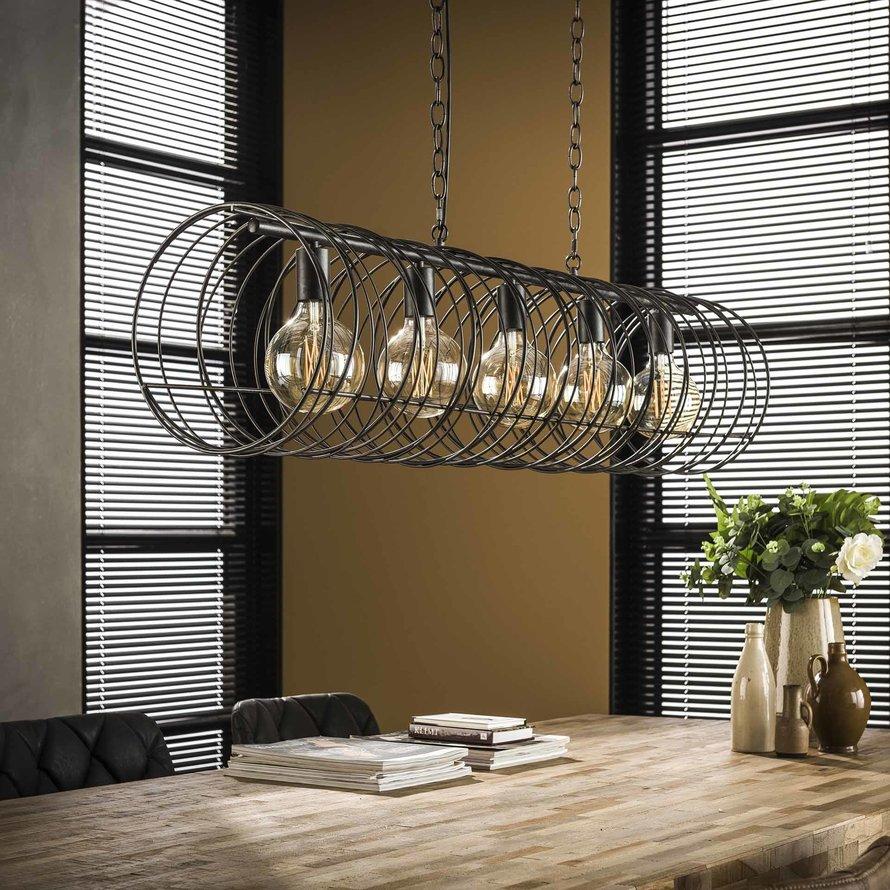 Industriële hanglamp Curl Charcoal 5-lichts