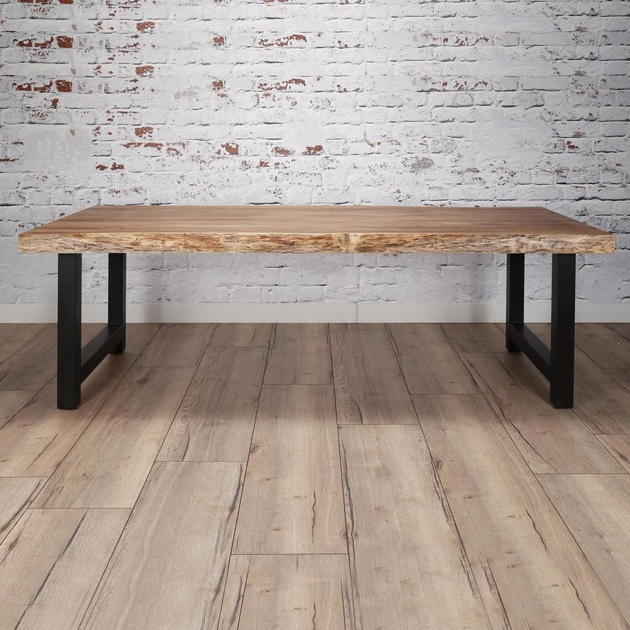 Industriële eetkamertafel Timber acaciahout 200x100