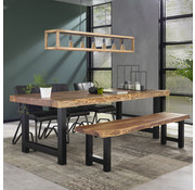 Industriële eetkamertafel Timber acacia hout 240x100