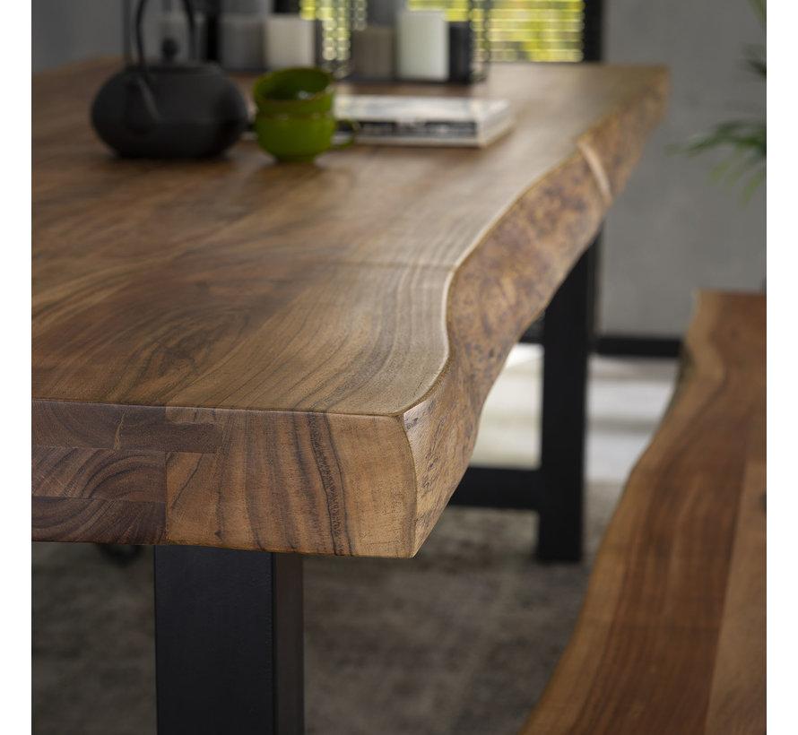 Industriële eetkamertafel Timber acaciahout 240x100
