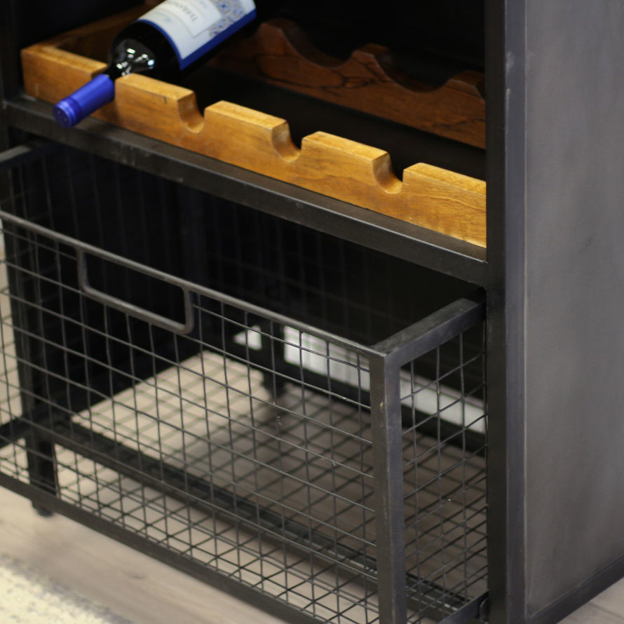 Industriële wijnkast Loire metaal 183x72 cm