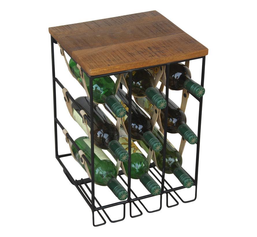 Industrieel wijnrek Lazio mangohout