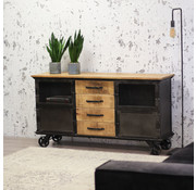 Industrieel dressoir Jason mangohout