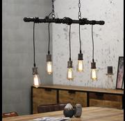 Bronx71 Industriële fabriekslamp Vancouver 5-lichts fade grey