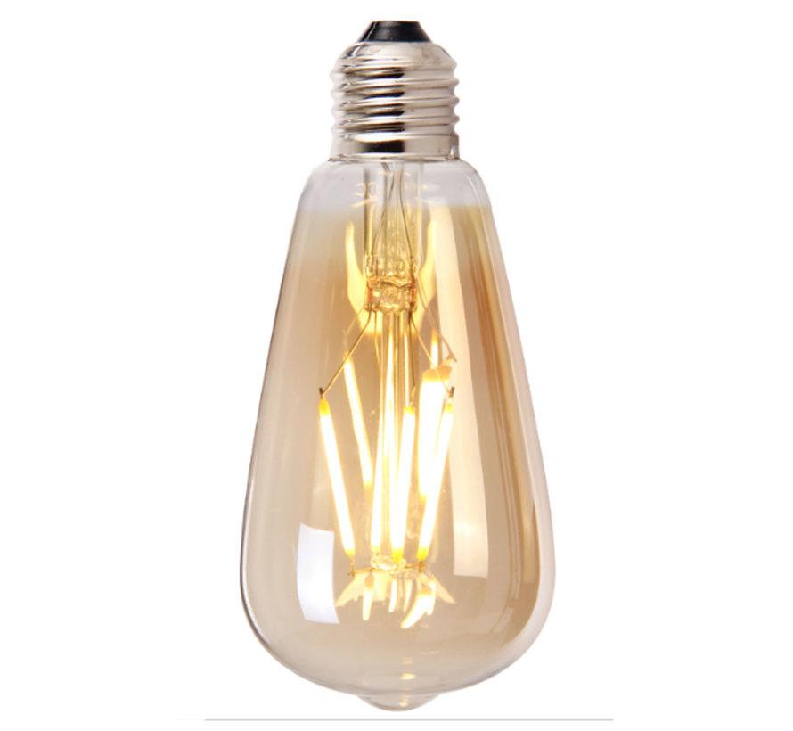 Lichtbron LED druppel 14,5 cm gold 4W