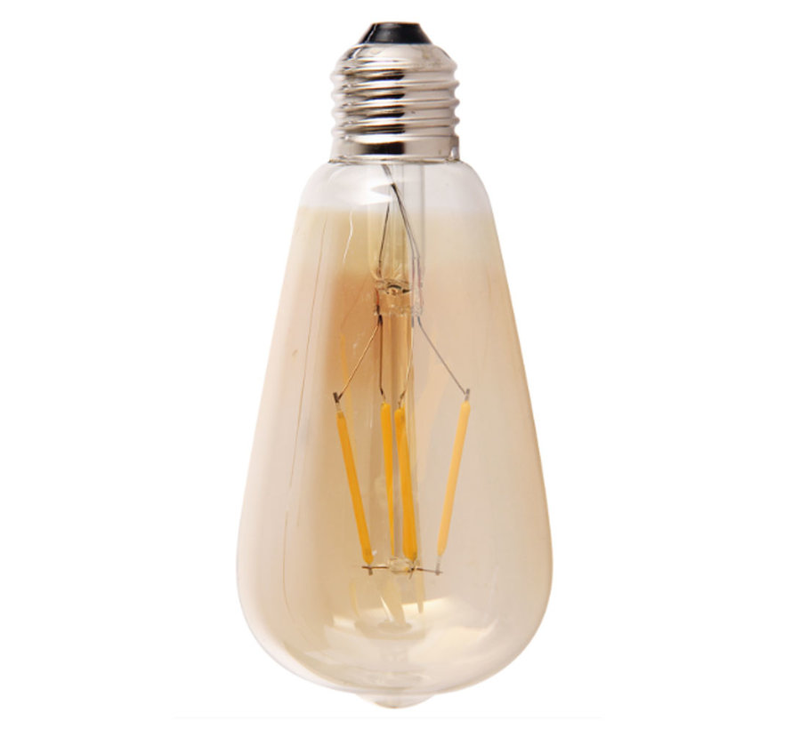 Lichtbron LED druppel 14,5 cm gold