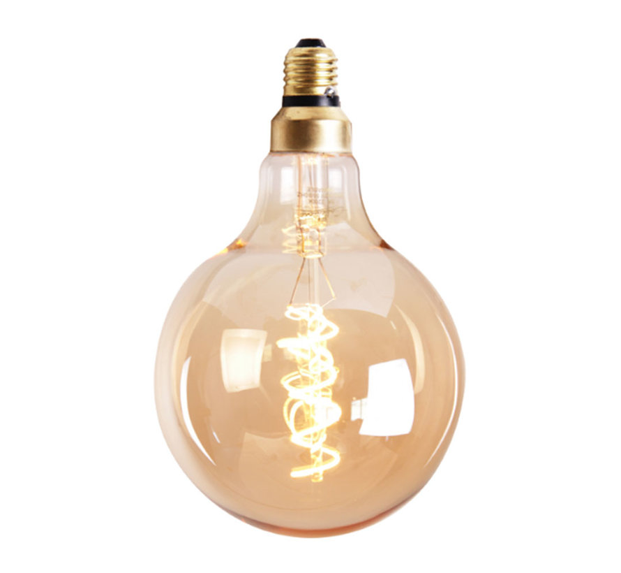 Lichtbron LED bol Ø12,5 cm gold