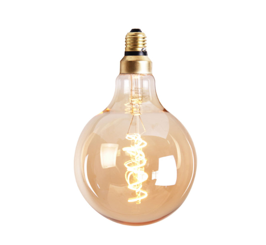 Lichtbron LED bol Ø9,5 cm gold