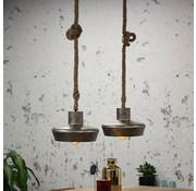 Bronx71 Industriële hanglamp Whistler 2-lichts metaal touw