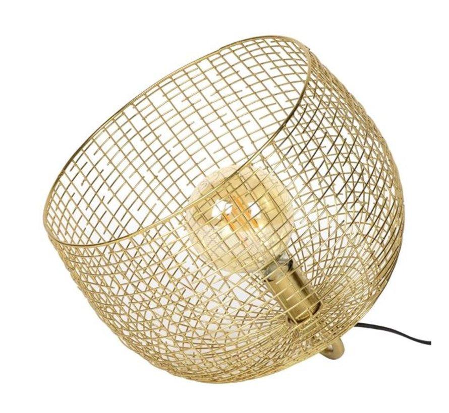 Tafellamp Fay goud raster Ø39
