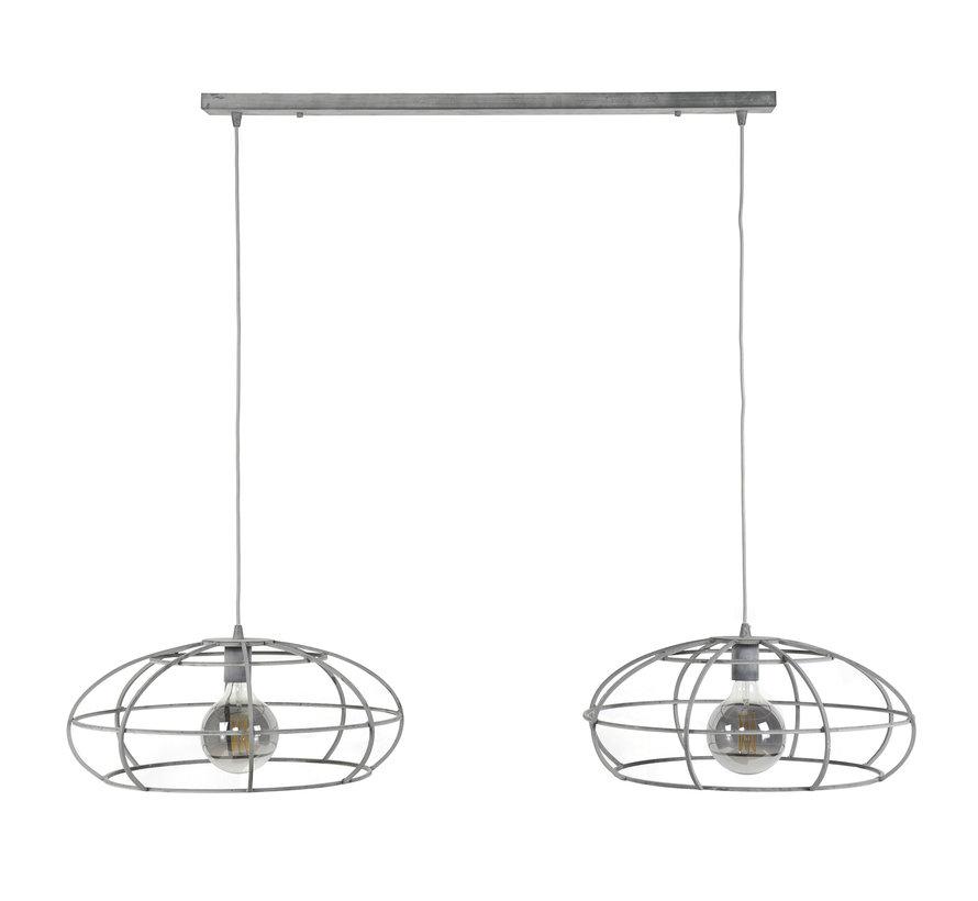 Industriële hanglamp Oval 2-lichts Ø50 cm