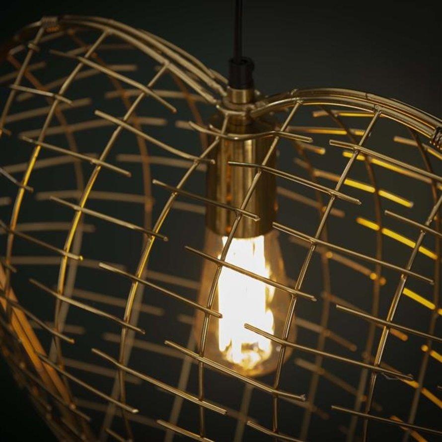 Hanglamp Heart goud raster 1-lichts