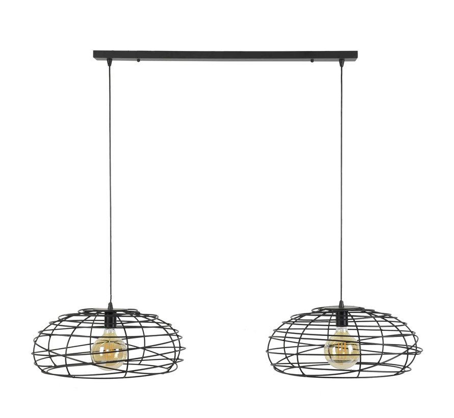Industriële hanglamp Spider 2-lichts Ø50 cm