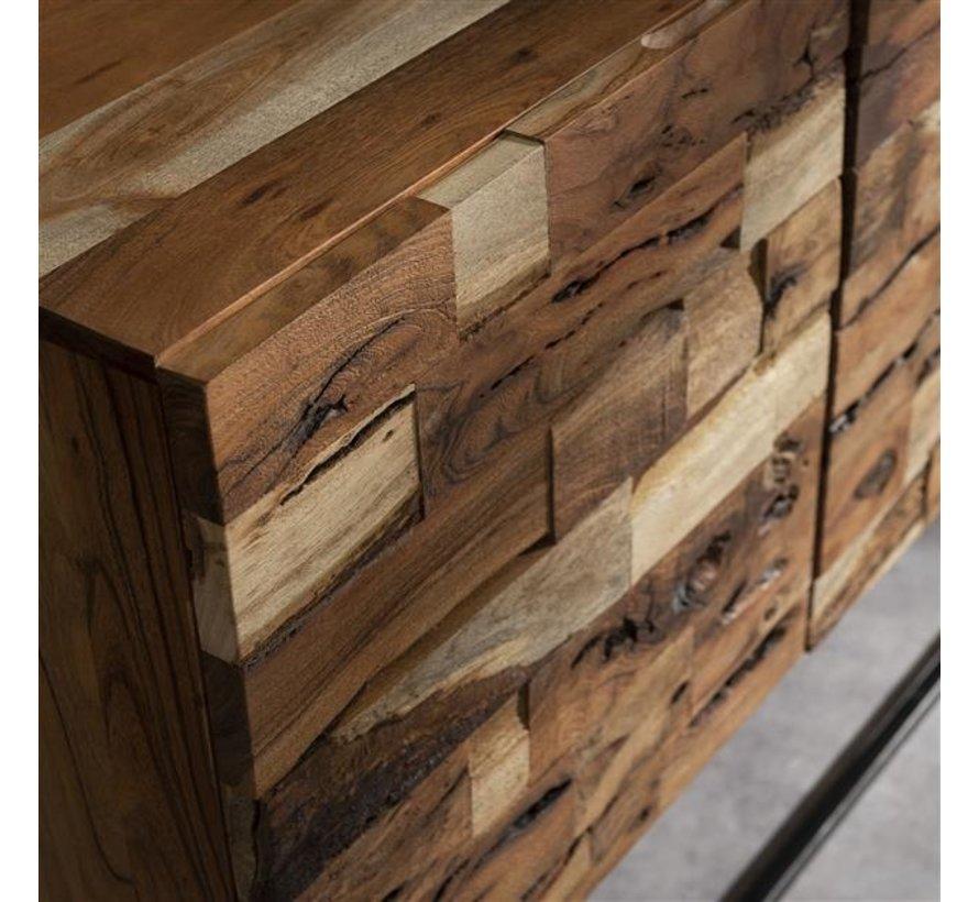 Industrieel dressoir Brick acaciahout