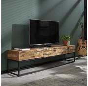 Industrieel tv-meubel Brick accaciahout