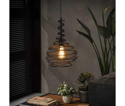 Industriële hanglamp Cone 1-lichts zwart