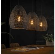 Industriële hanglamp Meghan 3-lichts bruin ovaal