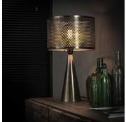 Industriële tafellamp Dionne metaal kegel