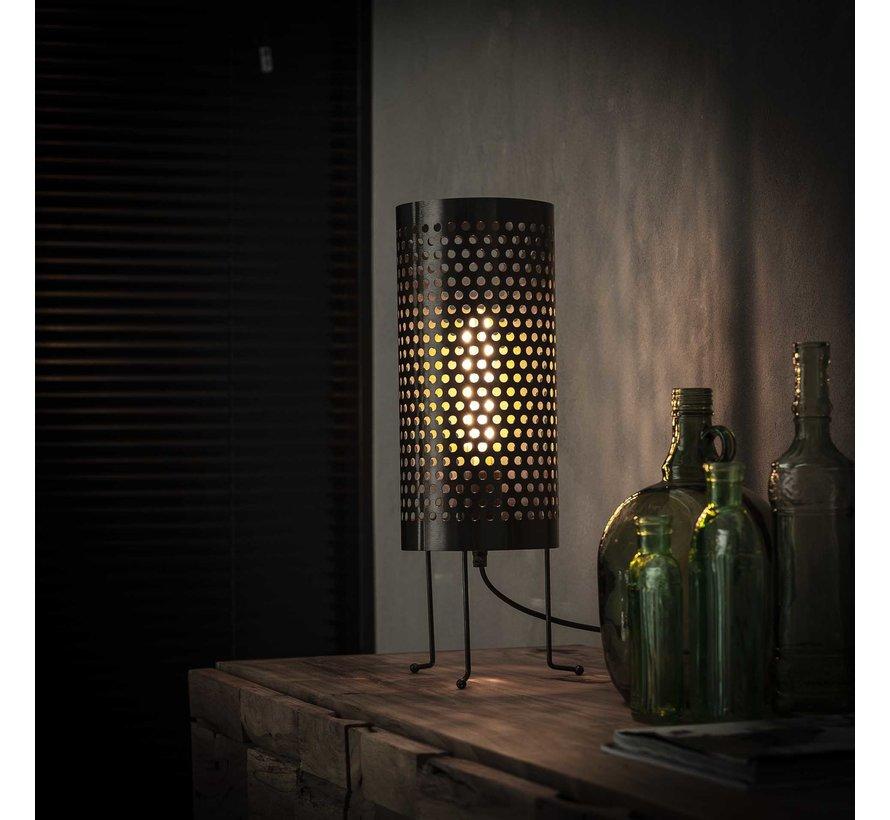 Industriële tafellamp Dionne metaal cilinder Ø18