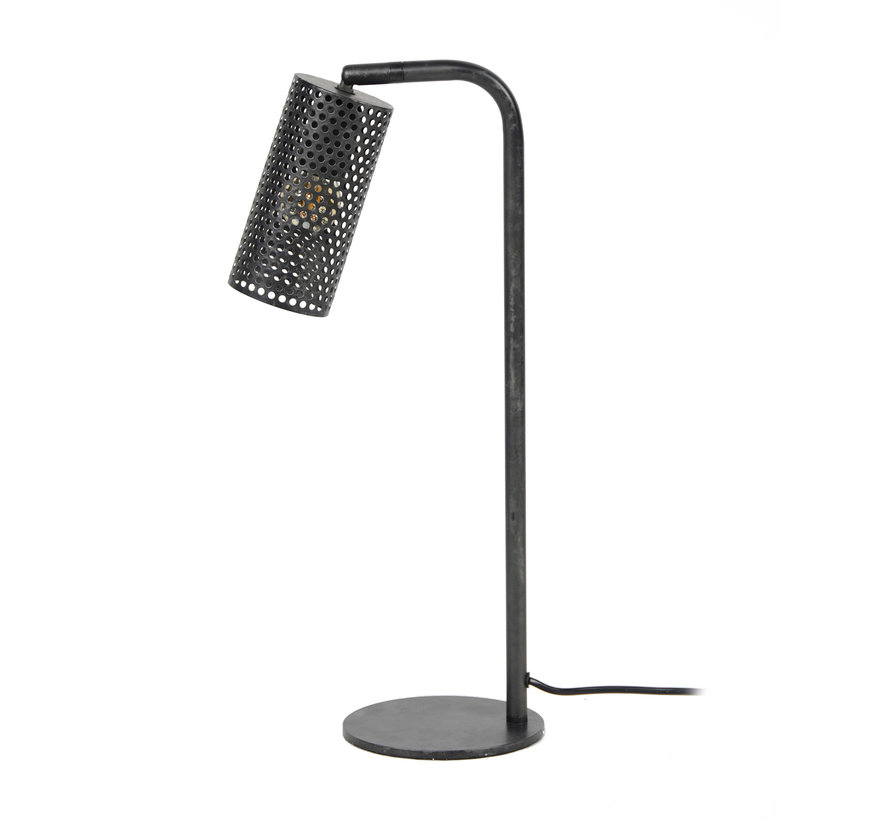 Industriële tafellamp Dionne metaal cilinder
