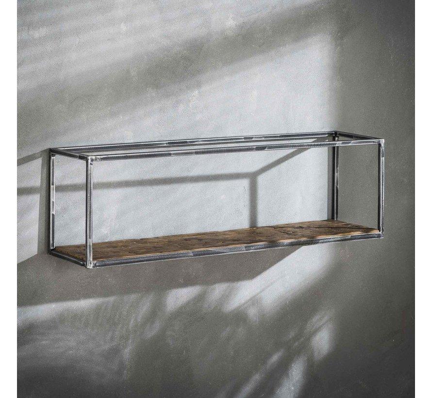 Industriële wandplank Andrew hardhout 100 cm
