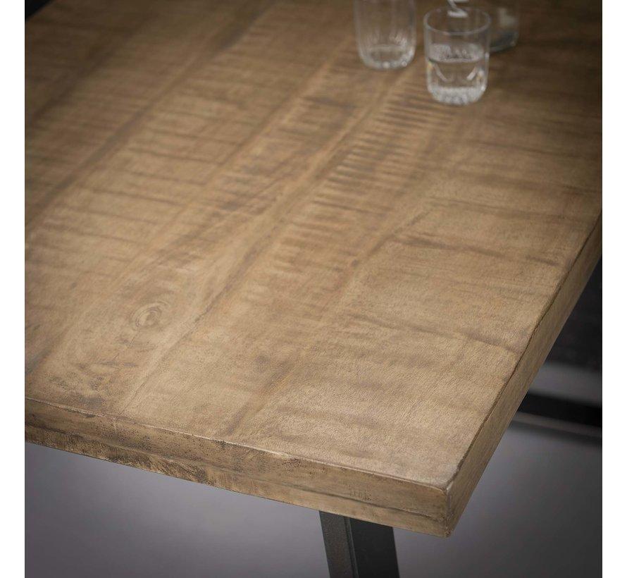 Industriële bartafel Jerry mangohout blank antiek 135 x 70 cm