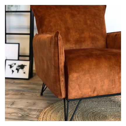 Velvet fauteuils
