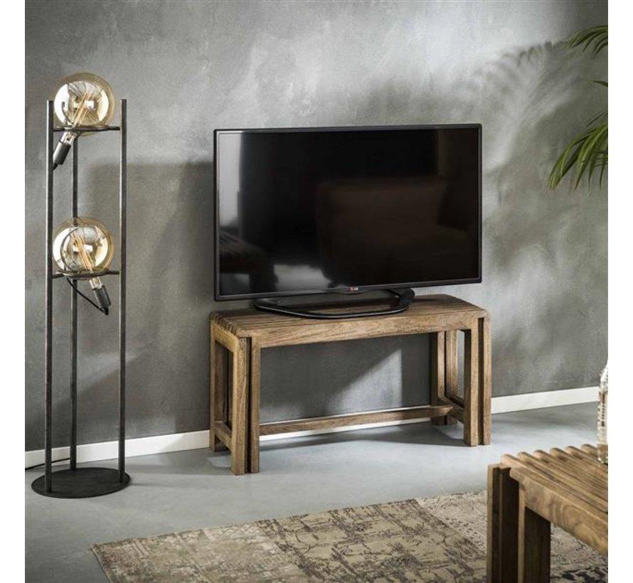 Industriële TV meubel Silvano uitschuifbaar mangohout