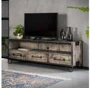 Industriële TV meubel Riff mangohout metaal