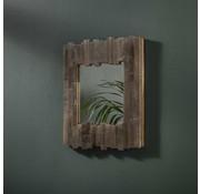 Houten Spiegel Mira teakhout 45x45 cm