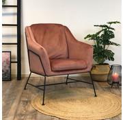 Bronx71 Moderne fauteuil Stella Velvet rose