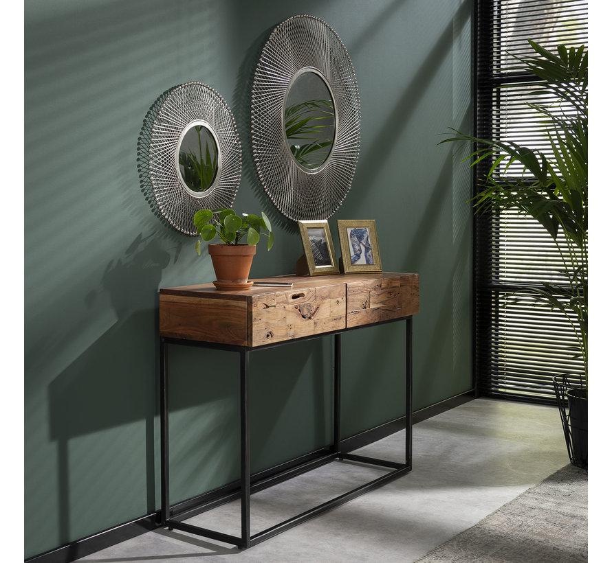 Design spiegel Adela Ø80 ijzer