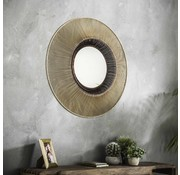 Design spiegel Amy Ø80 goudkleurig