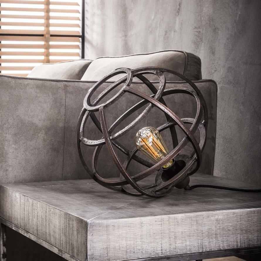 Industriële tafellamp Gracie zwart koper