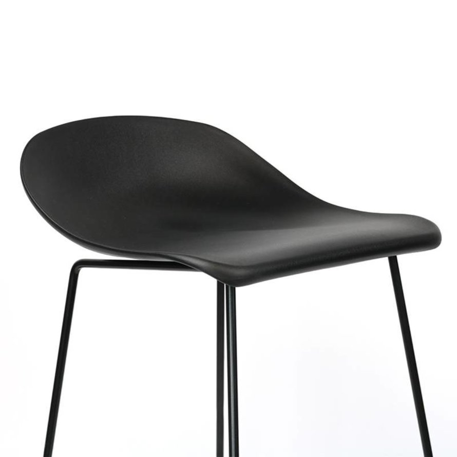 Scandinavische Barkruk Ellen zwart 66cm