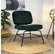 Bronx71 Kleine velvet fauteuil Elena groen
