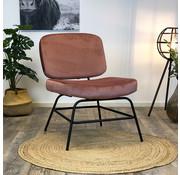 Bronx71 Moderne fauteuil Elena Velvet rose