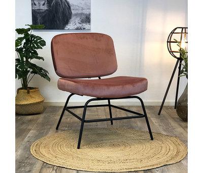 Bronx71 Kleine velvet fauteuil Elena roze
