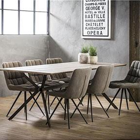Industriële eetkamertafel Maarten MDF hout 200 x 95 cm rechthoek
