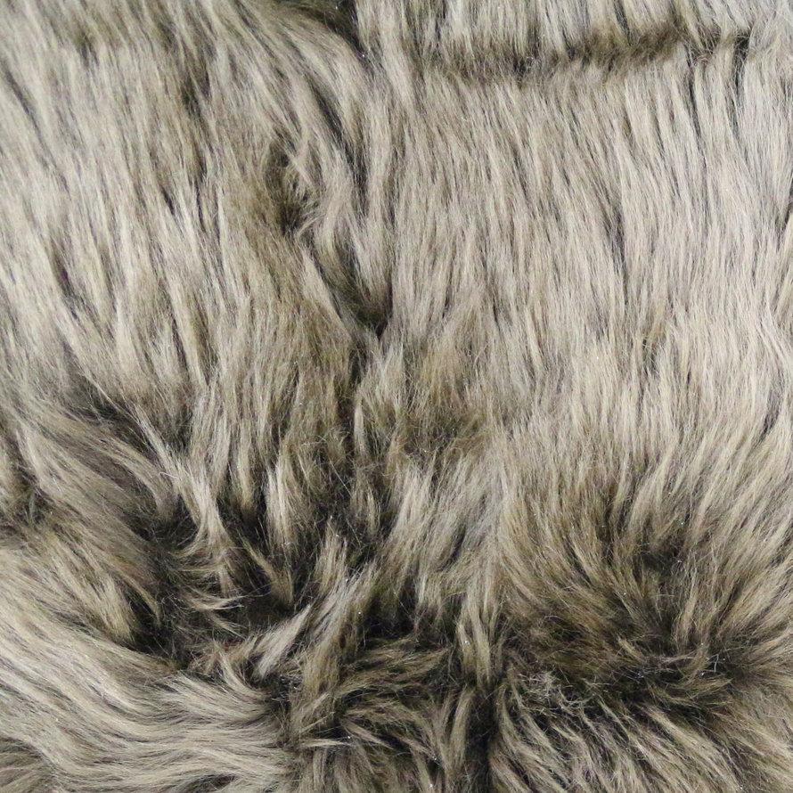 Schapenvacht bruin met witte toppen