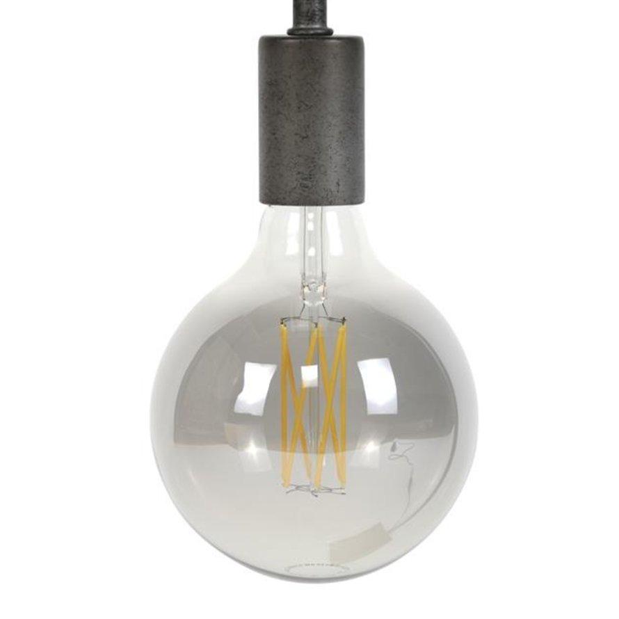 Lichtbron LED bol Ø12,5 cm smokey grey