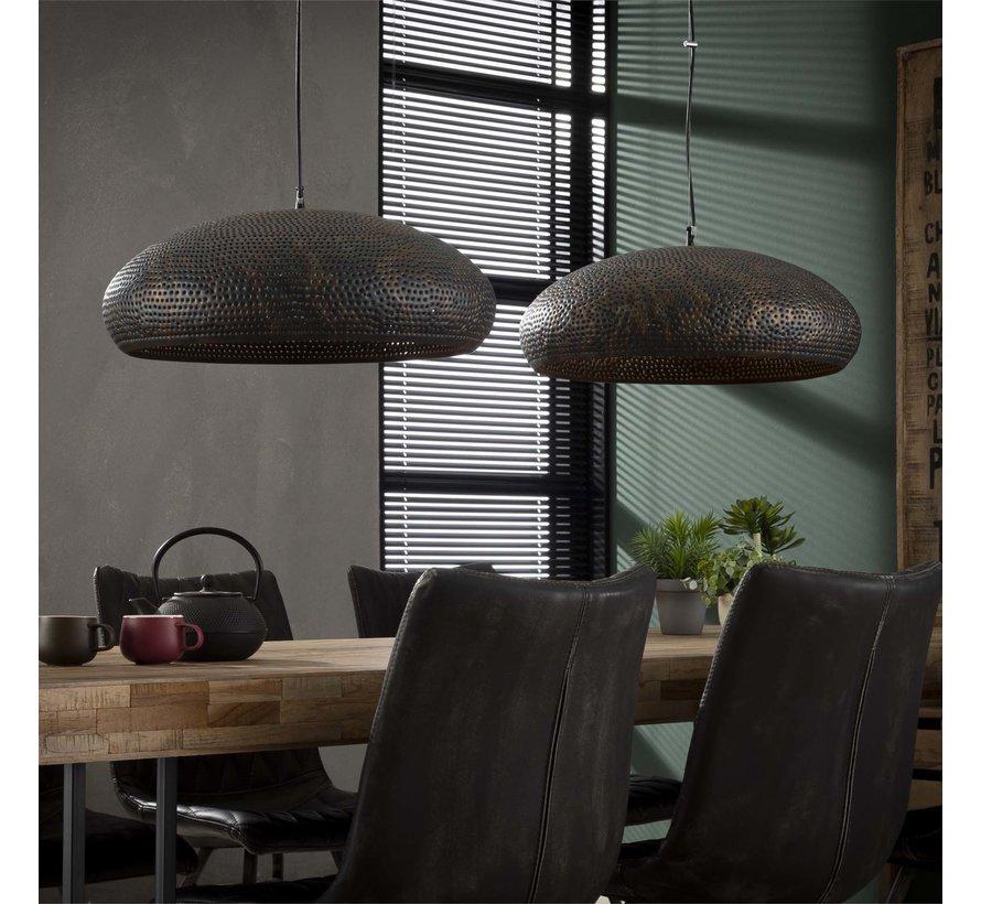 Industriële hanglamp Paulien 2-lichts brons
