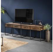 Industrieel tv-meubel Floor hardhout 4 lades