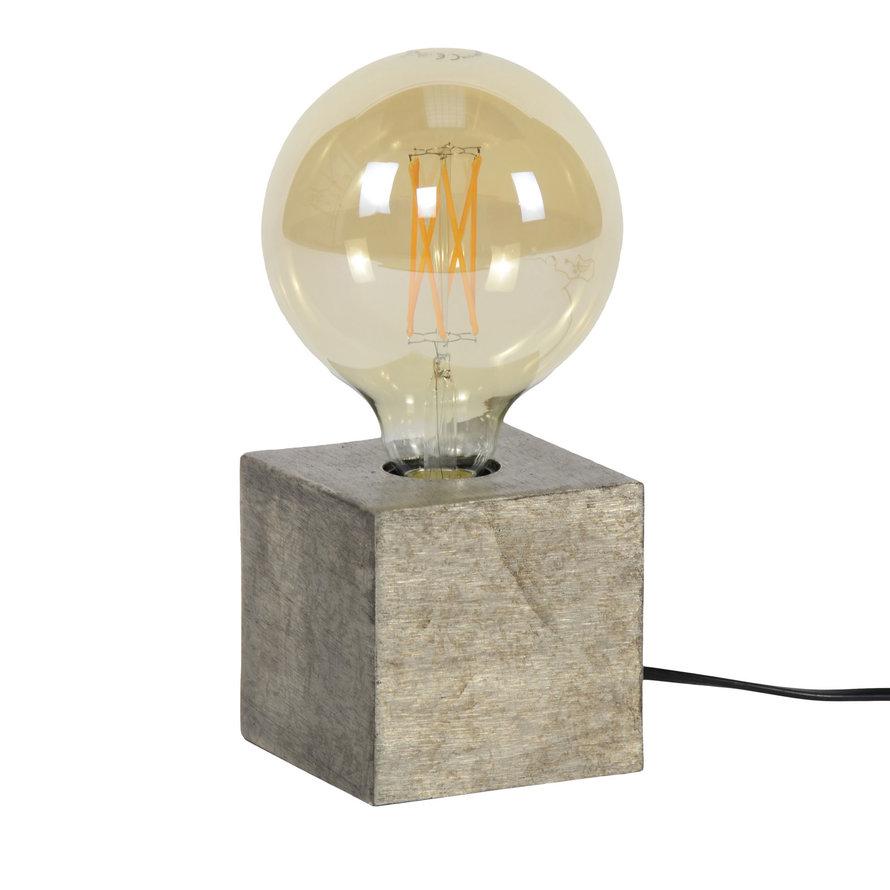 Industriële tafellamp Box antiek nikkel