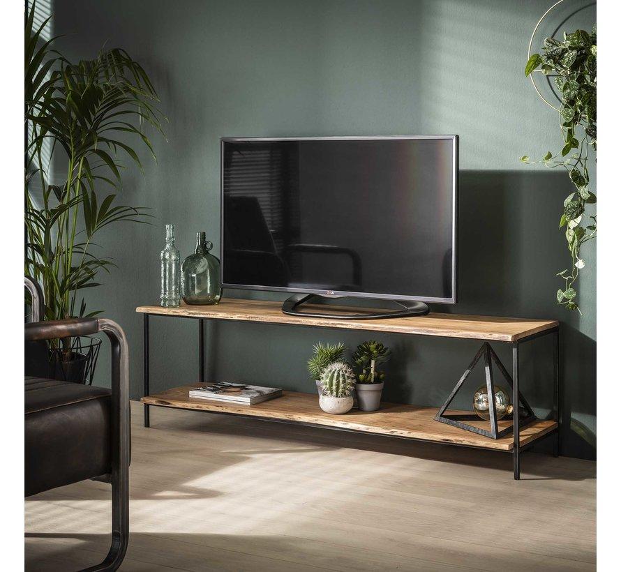 Industriële TV meubel Alan acaciahout 150 x 45