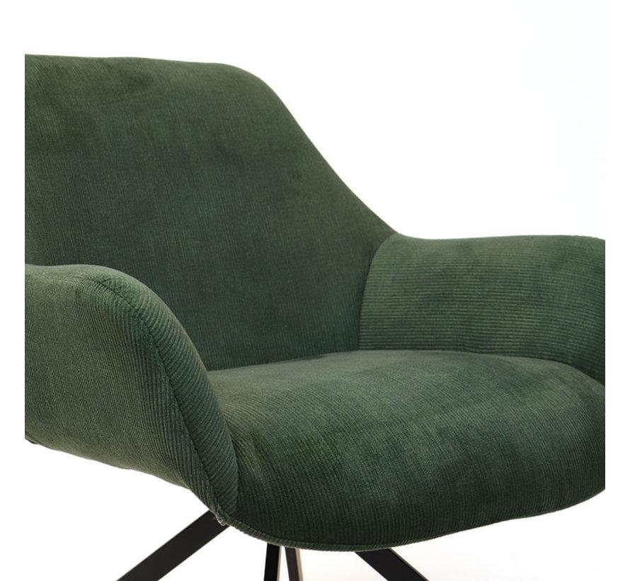 Fauteuil Emily Ribstof groen