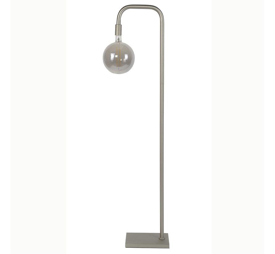 Industriële vloerlamp Jella metaal zilver